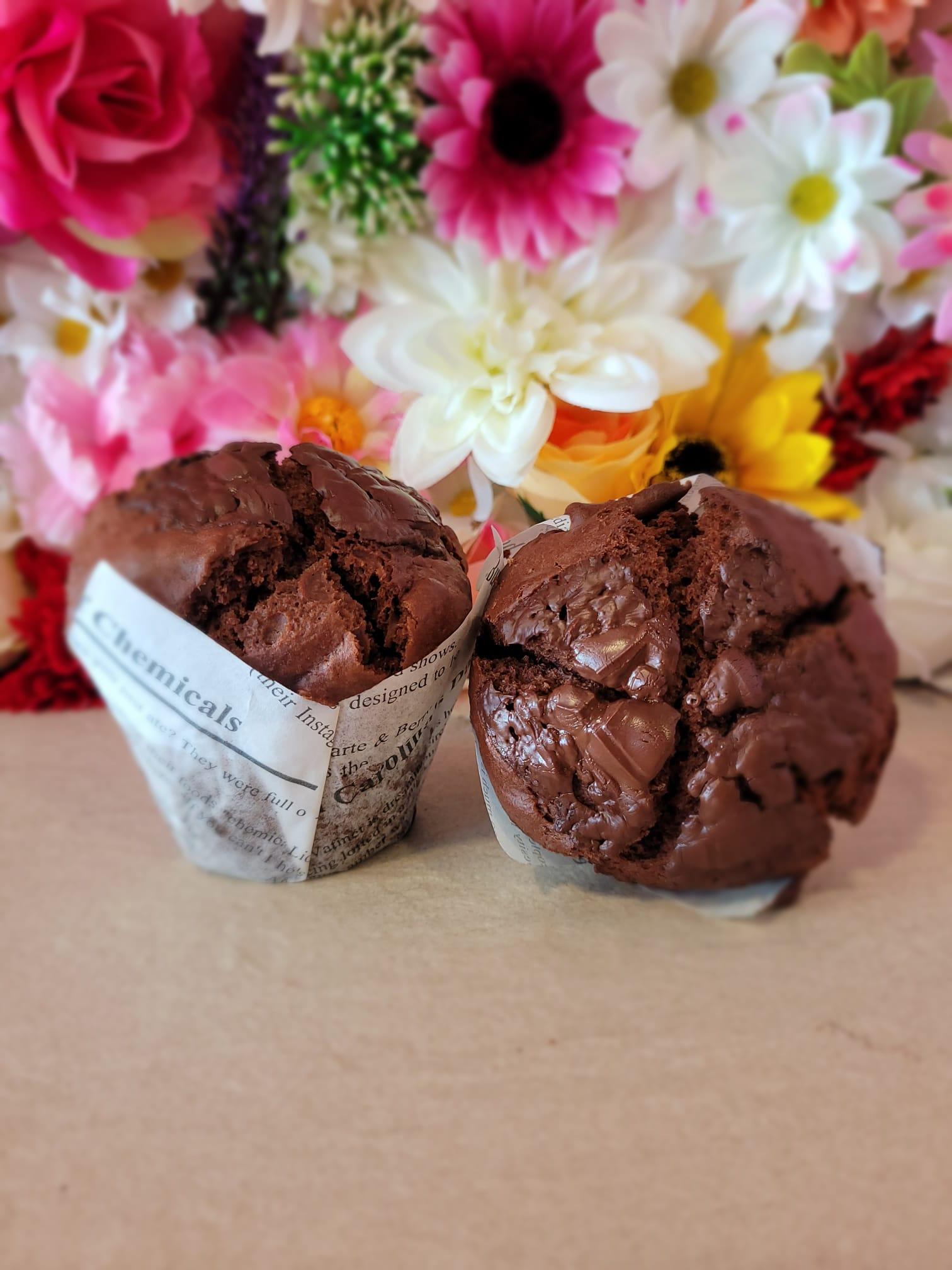 Muffin de Súper Chocolate Vegano